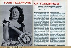 Your Telephone Of Tomorrow!