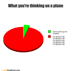 What you're thinking on a plane