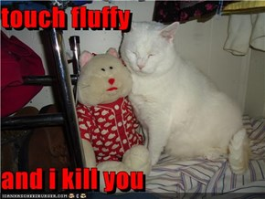 touch fluffy  and i kill you