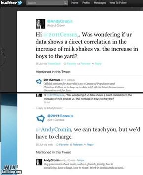 Clever Census Tweet WIN
