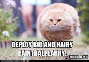 DEPLOY BIG AND HAIRY  PAINTBALL LARRY!