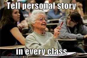 Senior Freshman Remembers It Like This..