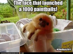 The face that launched  a 1000 paintballs!