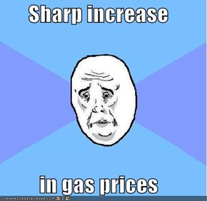 Sharp increase   in gas prices