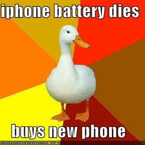 iphone battery dies  buys new phone