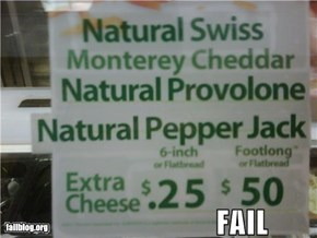 subway cheeze fail