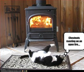 Chestnuts roasting on an open fire....