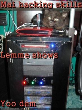 Mai hacking skills Lemme shows Yoo dem