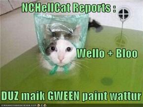 NCHellCat Reports : Wello + Bloo     DUZ maik GWEEN paint wattur