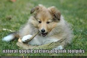 natural goggie prefurs organik toofpiks
