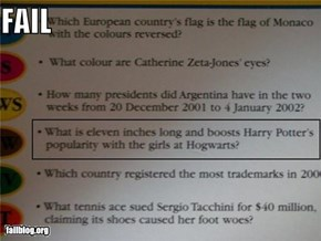 Trivial Pursuit Question FAIL