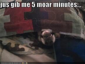 jus gib me 5 moar minutes...