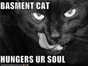 BASMENT CAT  HUNGERS UR SOUL