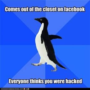"""Socially Awkward Penguin: """"I'm gay"""""""
