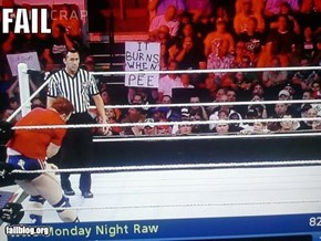 Wrestling Sign FAIL