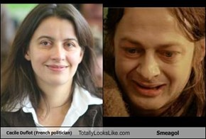 Cecile Duflot (French politician) Totally Looks Like Smeagol