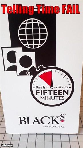Telling Time FAIL