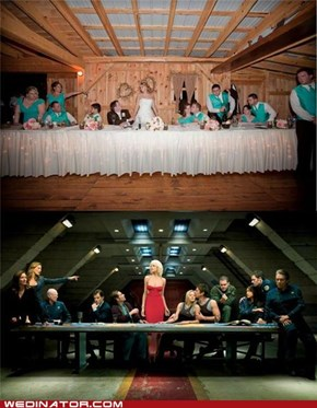 Battlestar Galactica Wedding Pose