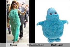 Rihanna Totally Looks Like Blue Boohbah
