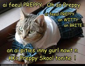 kitteh frum Wes Syde Storee inrolld in KKc Preppy Skool (redo)
