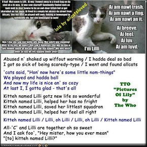 """Kitteh Named Lilli"" (TTO ""Pictures Of Lily"" by The Who)"