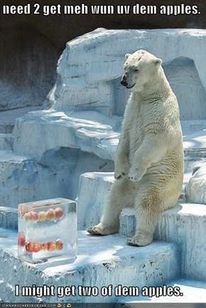 i need 2 get meh wun uv dem apples.  I might get two of dem apples.