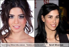 Yara El Khoury-Mikhael (Miss Lebanon) Totally Looks Like Sarah Silverman