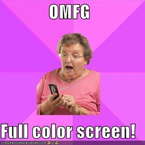 OMFG  Full color screen!