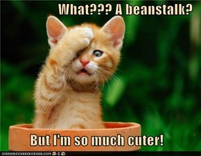 What??? A beanstalk?  But I'm so much cuter!