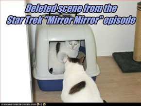 "Deleted scene from the Star Trek ""Mirror Mirror"" episode"