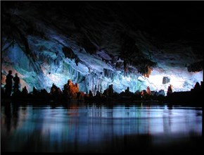 Stalagmite Skyline Cave in Luoyang, Henan, China