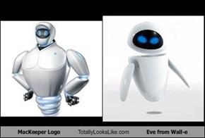 MacKeeper Logo Totally Looks Like Eve from Wall-e