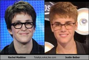 Rachel Maddow Totally Looks Like Justin Beiber