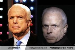 John McCain Totally Looks Like Photographer Jim Moore