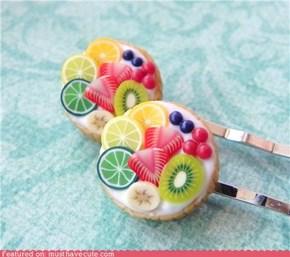 fruit tart bobby pin