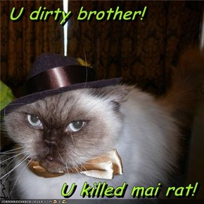 U dirty brother!  U killed mai rat!