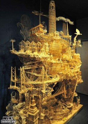 Toothpick Sculpture WIN