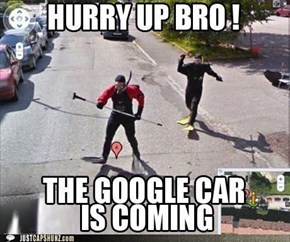 Funny Captions - Google Car Is Coming