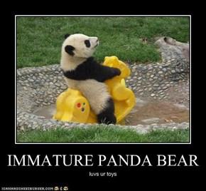 IMMATURE PANDA BEAR