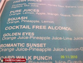 So... Just Alcohol, Then?