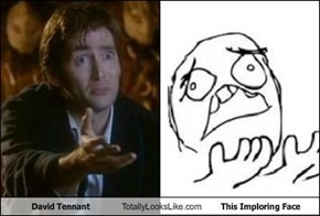 David Tennant Totally Looks Like This Imploring Face
