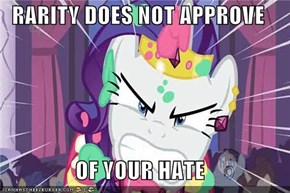 RARITY DOES NOT APPROVE  OF YOUR HATE