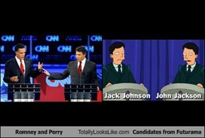 Romney and Perry Totally Looks Like Candidates from Futurama