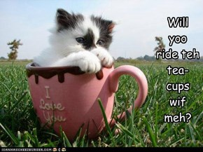 Will  yoo  ride teh  tea-cups  wif  meh?