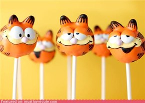 Epicute: Garfield Cake Pops