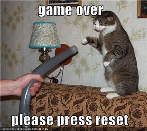 game over  please press reset