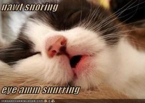 nawt snoring  eye amm snurring