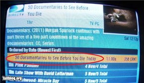 DirecTV DVR program listing FAIL