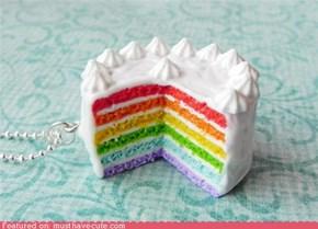 rainbow cake pendant