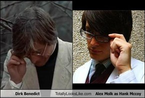 Dirk Benedict Totally Looks Like Alex Molk as Hank Mccoy